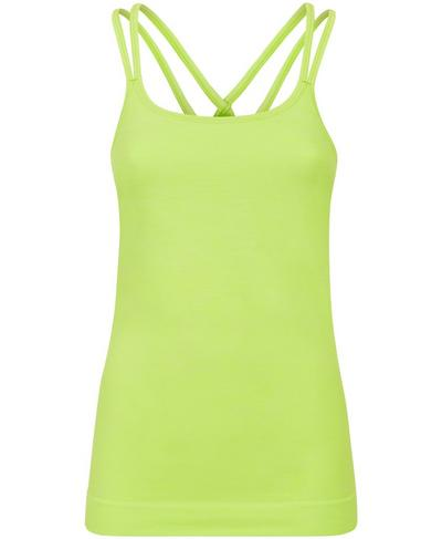 Namaska Yoga Vest, Green Alert | Sweaty Betty