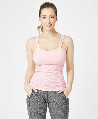 Namaska Yoga Vest, Liberated Pink | Sweaty Betty