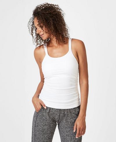 Namaska Yoga Tank, White | Sweaty Betty