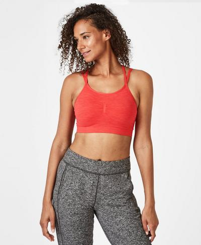 Brahma Padded Yoga Bra, Tulip Red | Sweaty Betty