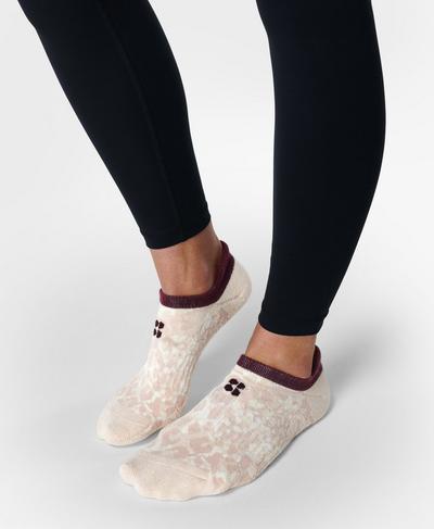 Workout Trainer Socks 3 Pack , Pink Shadow Print | Sweaty Betty