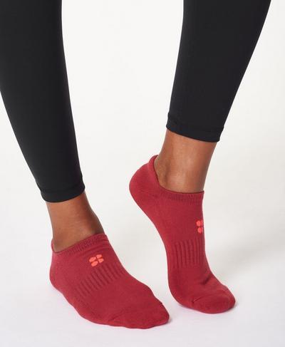 Workout Socks 3 Pack, Renaissance Red Multi | Sweaty Betty