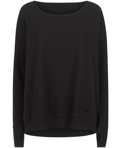 After Class Luxe Fleece Sweatshirt, Black | Sweaty Betty