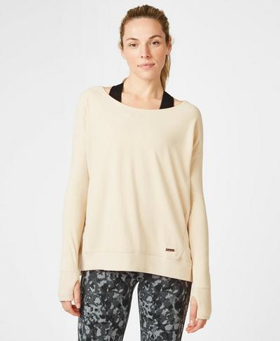 Simhasana Luxe Sweatshirt, Cement | Sweaty Betty