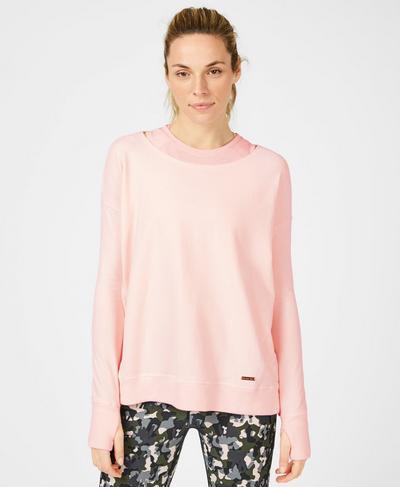 Simhasana Luxe Sweatshirt, Liberated Pink | Sweaty Betty