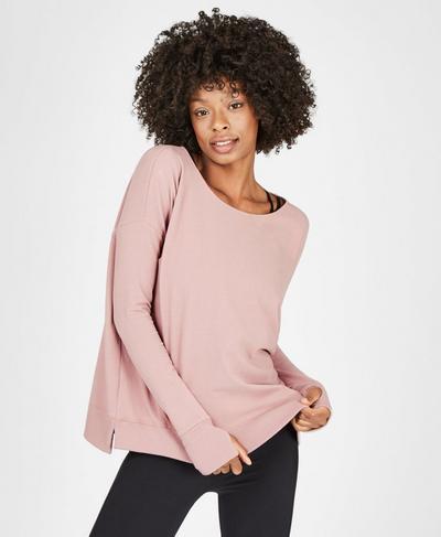 Simhasana Luxe Sweatshirt, Velvet Rose | Sweaty Betty