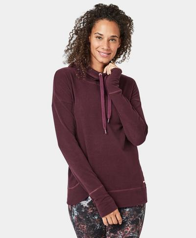 Escape Luxe Hoodie, Black Cherry | Sweaty Betty