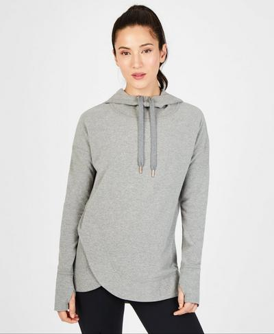 Escape Luxe Fleece Hoodie, Light Grey Marl | Sweaty Betty