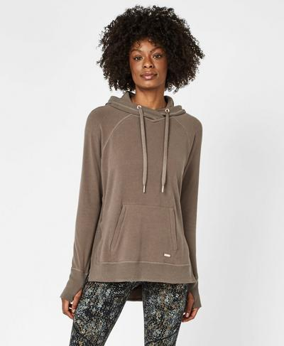 Release Luxe Hoodie, Dark Taupe | Sweaty Betty