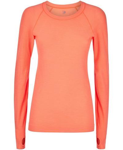 Athlete Seamless Long Sleeve Top, Fluro Flash Pink | Sweaty Betty