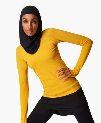 Athlete Seamless Long Sleeve Top, Golden Yellow | Sweaty Betty