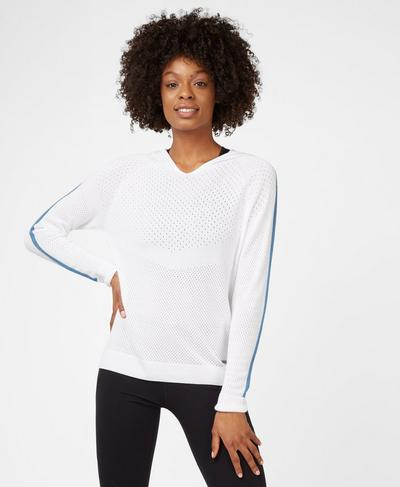 Stratford Lightweight Hoody, White | Sweaty Betty