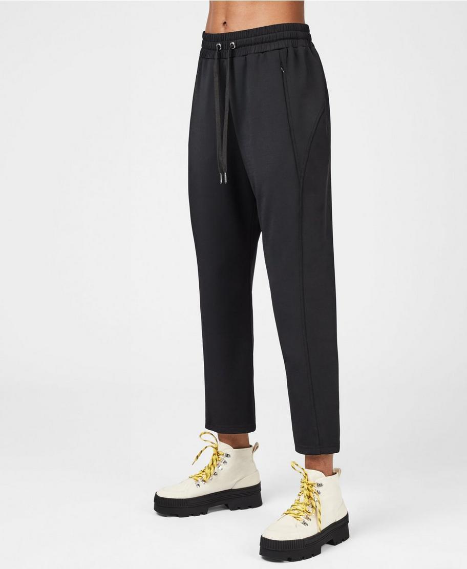 Womens Black Side Zip Pants