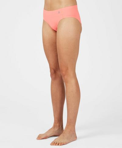 You Bet Your Ass Hipster Pant, Fluro Flash Pink   Sweaty Betty