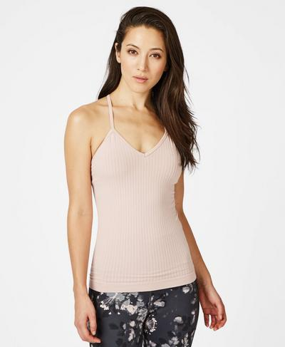 Mindful Seamless Bamboo Yoga Vest, Velvet Rose Pink | Sweaty Betty
