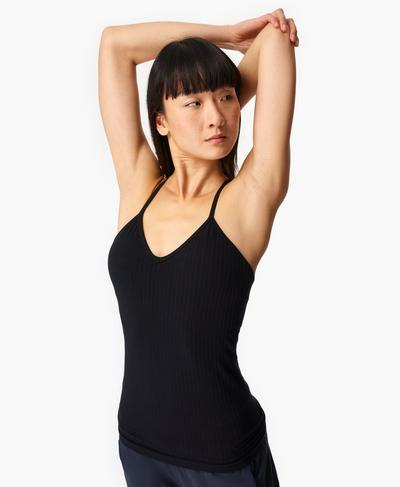 Mindful Seamless Yoga Vest, Black | Sweaty Betty