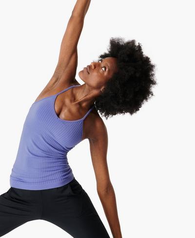 Mindful Seamless Yogashirt, Cornflower Blue | Sweaty Betty