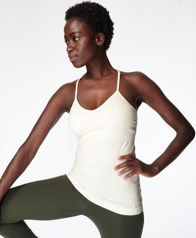 Mindful Seamless Yoga Vest, Lily White | Sweaty Betty