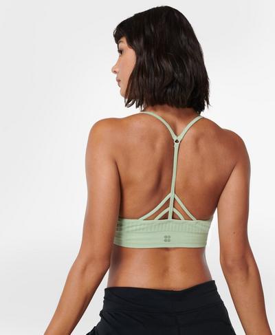 Mindful Seamless Yoga Bra , Cereus Green | Sweaty Betty