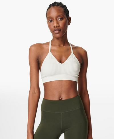 Mindful Seamless Yoga Bra, Lily White | Sweaty Betty
