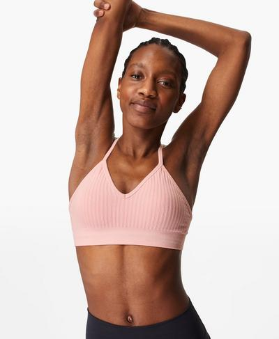 Mindful Seamless Yoga Bra, Nerine Pink | Sweaty Betty