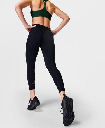 Power 7/8 Workout Leggings, Black | Sweaty Betty