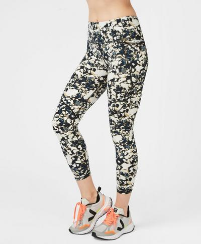 Power Sculpt 7/8 Workout Leggings, Cement Patch Print | Sweaty Betty