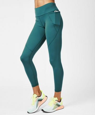 Power 7/8 Workout Leggings, June Bug Green | Sweaty Betty