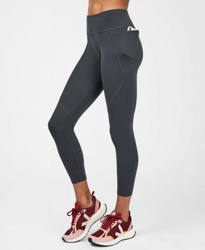 Power 7/8 Workout Leggings, Slate Grey   Sweaty Betty