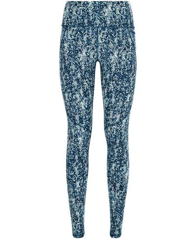 Power 7/8 Workout Leggings, Beetle Blue Herringbone Print | Sweaty Betty