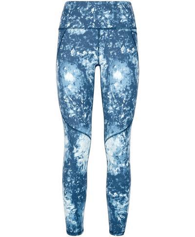 Power 7/8 Workout Leggings, Beetle Blue Tie Dye Print | Sweaty Betty