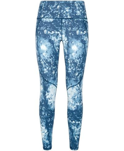 Power Workout Leggings, Beetle Blue Tie Dye Print | Sweaty Betty