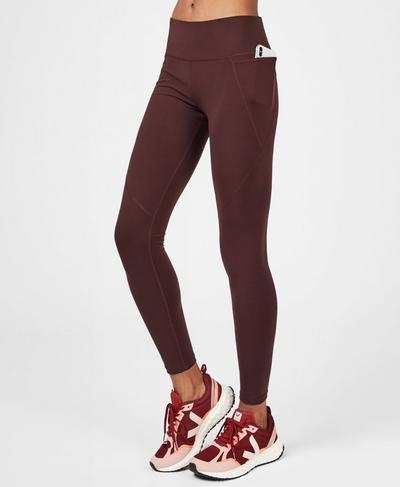 Power Workout Leggings, Black Cherry Purple | Sweaty Betty