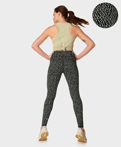 Power Workout Leggings , Black Monogram Print | Sweaty Betty