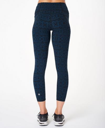 Power 7/8 Workout Leggings, Blue Carpet Geo Print | Sweaty Betty