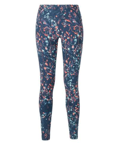 Power Gym Leggings, Blue Mystical Floral Print | Sweaty Betty