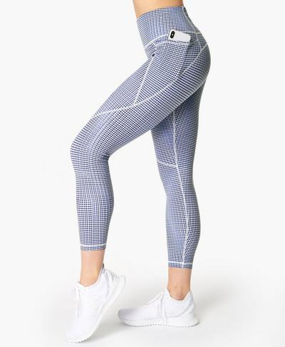 Power 7/8 Gym Leggings, Blue SB Move Print | Sweaty Betty