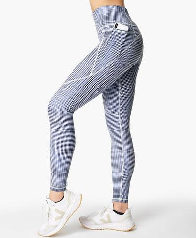 Power Gym Leggings, Blue SB Move Print | Sweaty Betty