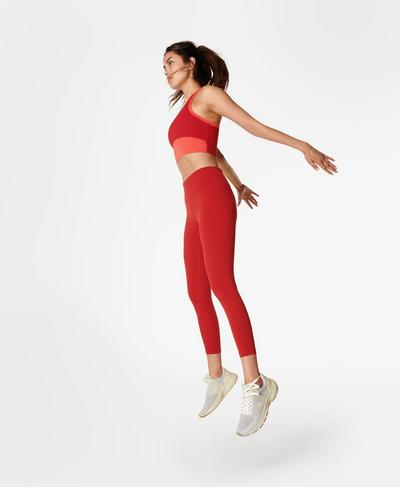 Power 7/8 Workout Leggings, Cardinal Red | Sweaty Betty