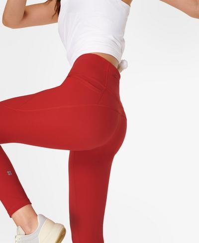 Power Gym Leggings, Cardinal Red | Sweaty Betty