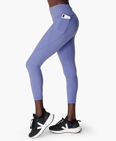Power 7/8 Workout Leggings, Cornflower Blue | Sweaty Betty