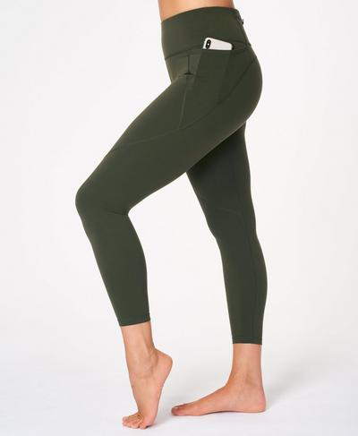 Power 7/8 Workout Leggings, Dark Forest Green | Sweaty Betty