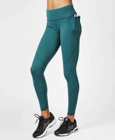 Power Workout Leggings, June Bug Green | Sweaty Betty