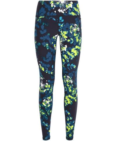 Power 7/8 Workout Leggings, Lime Punch Green Floral Print | Sweaty Betty