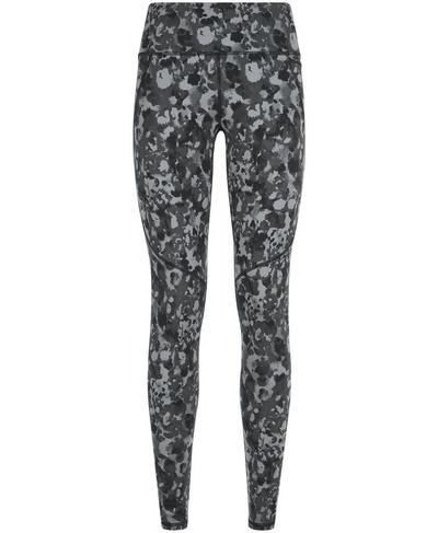Power Workout Leggings, Monotone Patch Print | Sweaty Betty