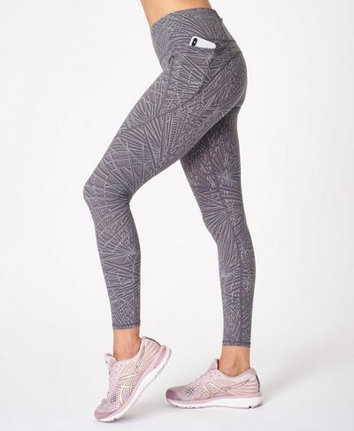 Power Gym Leggings, Moonrock Purple Palm Print | Sweaty Betty