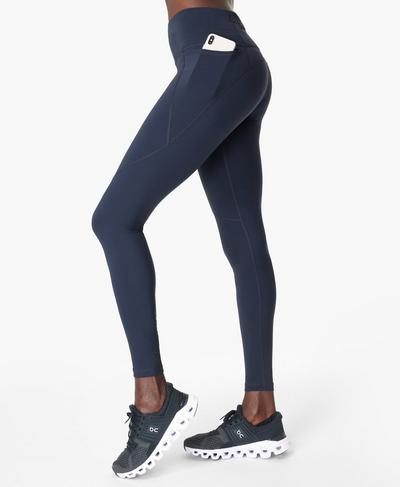 Power Gym Leggings, Navy Blue | Sweaty Betty