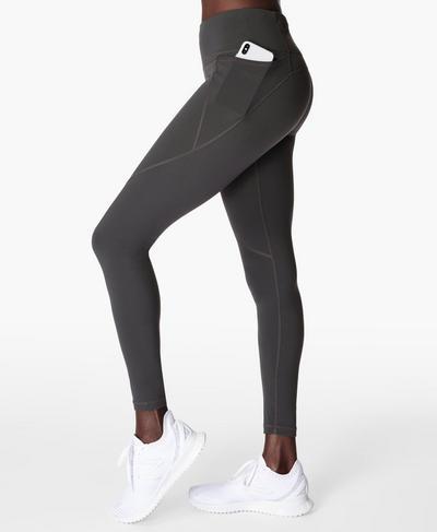 Power Workout Leggings, Slate Grey   Sweaty Betty