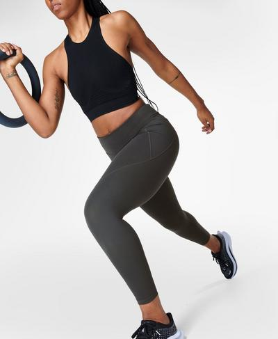 Power 7/8 Workout Leggings, Slate Grey | Sweaty Betty
