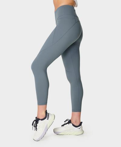 Power 7/8 Gym Leggings, Steel Blue | Sweaty Betty